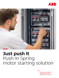 ABB offering new Push-in Spring motor starting solutions